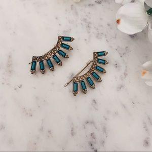 Turquoise Ear Jacket Earrings